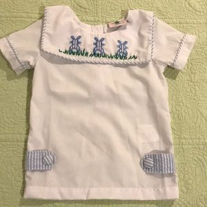 Easter shirt with bunnies